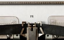 Text PR Typed On Retro Typewriter