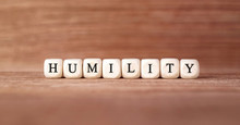 Word HUMILITY Made With Wood Building Blocks