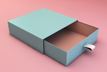 Blue Box On Pink Background