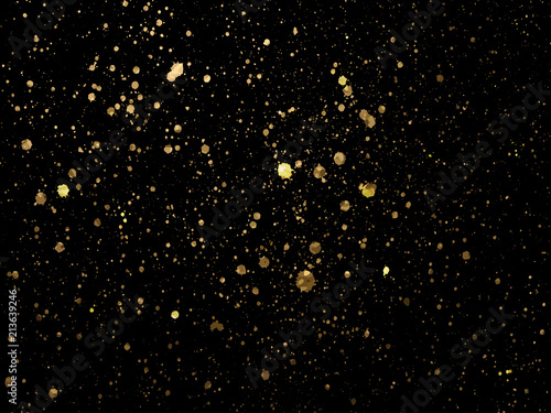 Cuadros en Lienzo  Gold spot one black background for Design Templates for Brochure