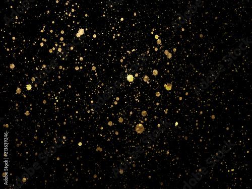 Cuadros en Lienzo Gold spot one black background for Design Templates for Brochure