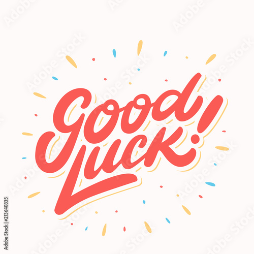 Fotografía Good luck. Farewell card. Vector lettering.