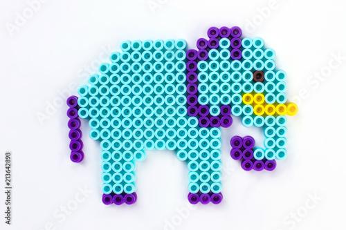 Fotografía  Perler bead elephant.
