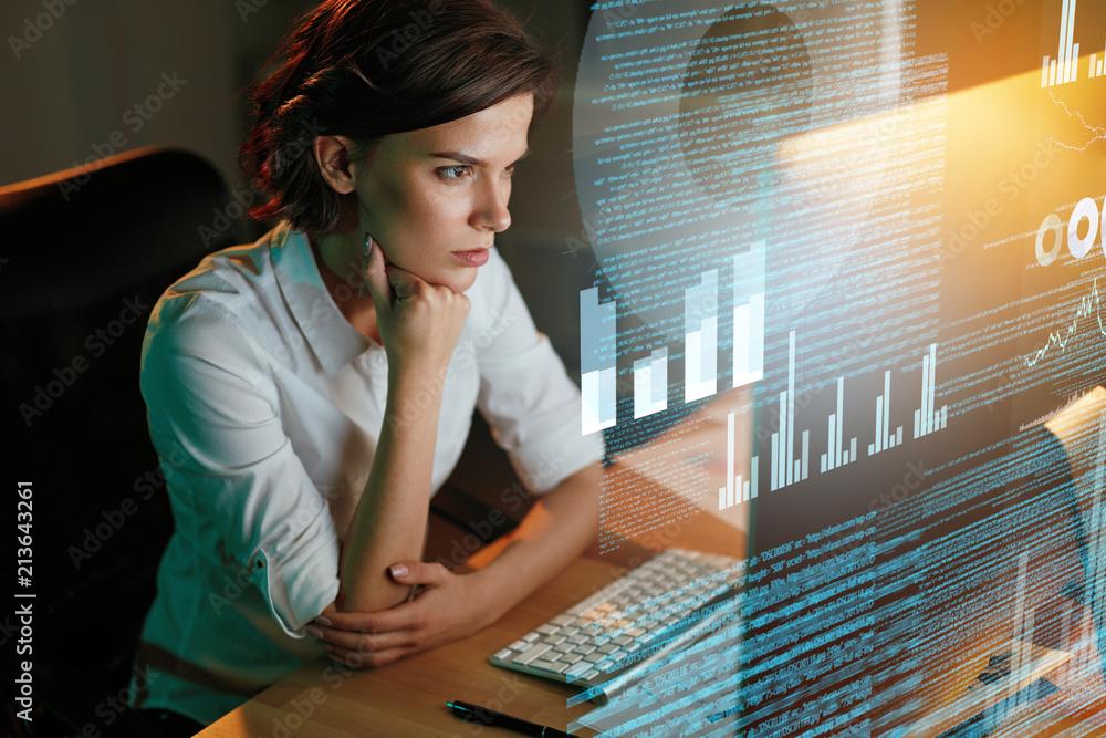 Fototapeta Innovation Technology. Programmer Creating Website