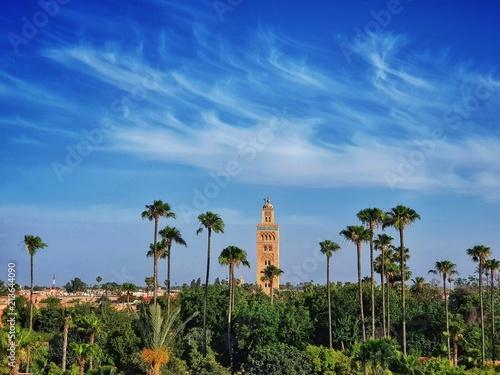 Fotografie, Obraz  Vue du minaret de la mosquée Koutoubia à Marrakech au Maroc