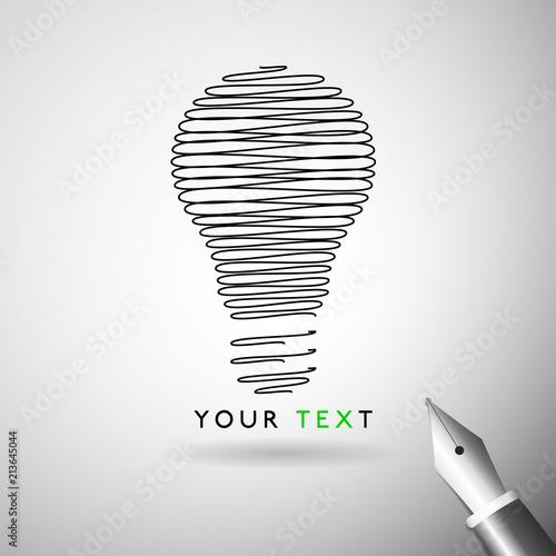 Idea Bulb design Canvas Print
