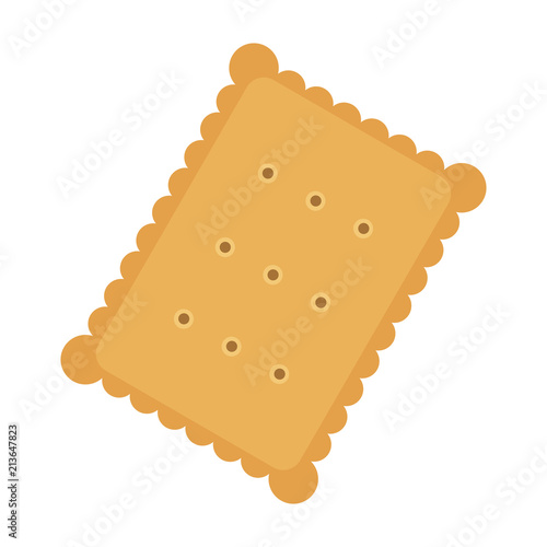Carta da parati Tasty biscuit, flat style vector illustration.