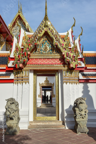 Foto op Canvas Temple Wat Pho Temple in Bangkok, Thailand
