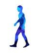 Leinwanddruck Bild human walking pose, abstract body watercolor painting hand drawing illustration design
