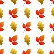 Vector seamless pattern with autumn leaves.