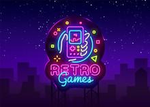 Retro Games Vector Logo. Retro...