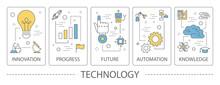 Set Of Technology Vertical Ban...