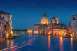 Blue hour at the Canale Grande in Venice