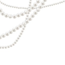 Vector Pearl Necklace On Light...