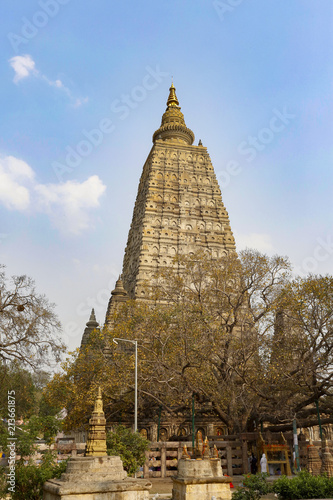 Spoed Foto op Canvas Bedehuis Mahabodhi Temple, Bodhgaya in india