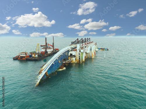 Garden Poster Shipwreck accident ship ocean vessel