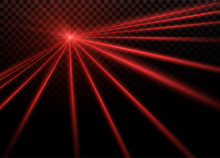 Abstract Red Laser Beam. Trans...