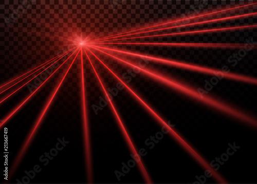 Valokuva Abstract red laser beam