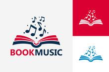 Modern Book Music Logo Templat...