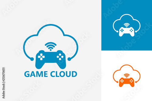 Streaming Cloud Network Game Logo Template Design Vector Emblem - Game concept template
