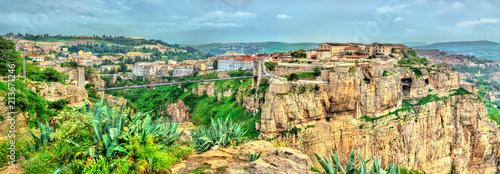 Poster Algérie Panorama of Constantine, a major city in Algeria