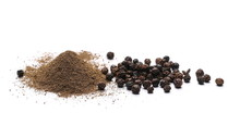 Black Ground Pepper Isolated O...