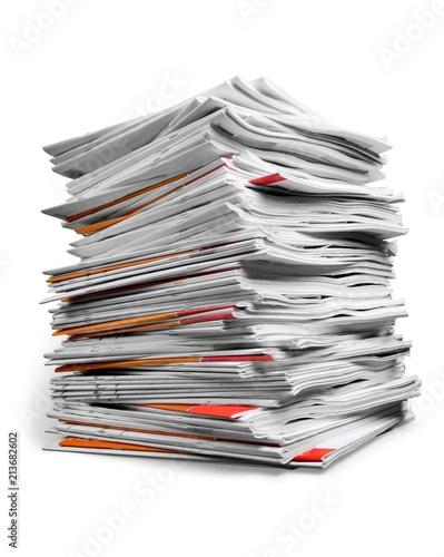 Fotografía  Stack of Magazines / Notebooks