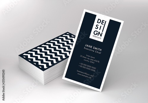 black and white business card layout buy this stock template and