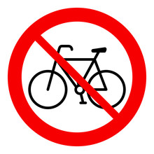 No Bicycle, Bicycle Prohibitio...