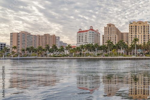Fotografia, Obraz  Waterfront reflections of West Palm Beach.
