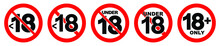Under 18 Not Allowed Sign. Num...