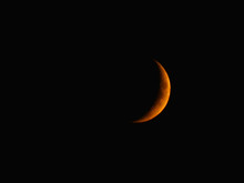 Orange Moon On The Night Sky I...