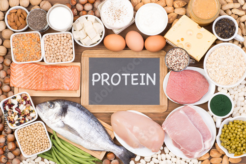 Protein food sources Fototapeta