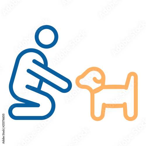 Photo Person with small dog or puppy icon