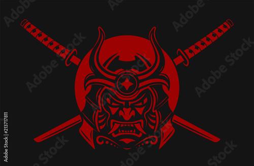 Samurai Warrior With Katana Sword Tablou Canvas