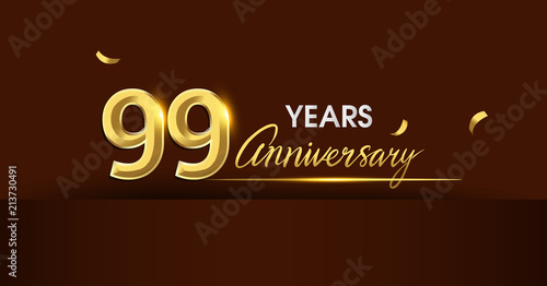 99 years anniversary celebration logotype Tableau sur Toile