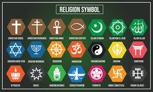 Vector Illustration Of Religion Symbol In The World