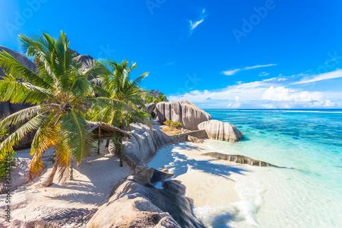 Fotografie, Obraz  site emblématique d'anse Source d'Argent, la Digue, les Seychelles