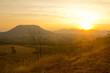 Morning mountain scenery