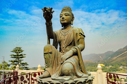 Foto op Plexiglas Historisch mon. The Offering of the Six Devas. Big Buddha (Tian Tan Buddha). Hong Kong. China