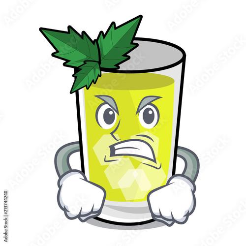 Photo Angry mint julep mascot cartoon
