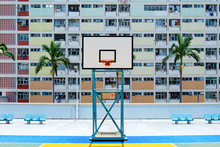 Basketball Stand With Windows Background
