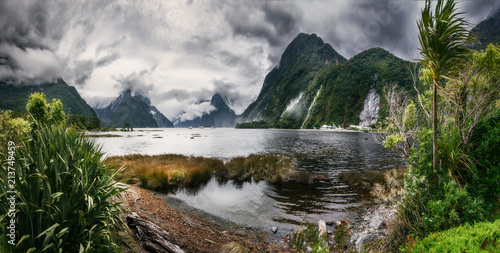 Wild Weather At Milford Sound Panoramic View At Freshwater