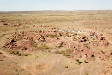 Massive Boulders Formed By Erosion In The Karlu Karlu, Devils Marbles Area Of The Outback (Northern Territory, Australia)