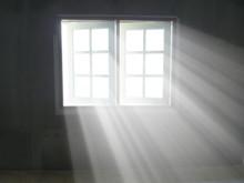 Light Rays Through Pass Window In Living Room