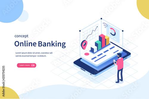 Fotografía  online banking