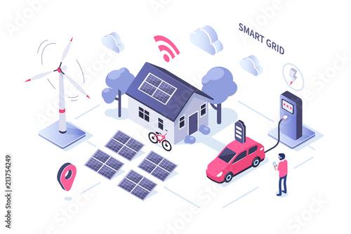 Fotografía  smart grid