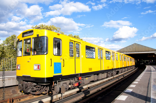 Berlin yellow subway (U-Bahn), elevated railway, Germany