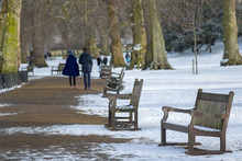 UK, England, London, St. James's Park In Snow