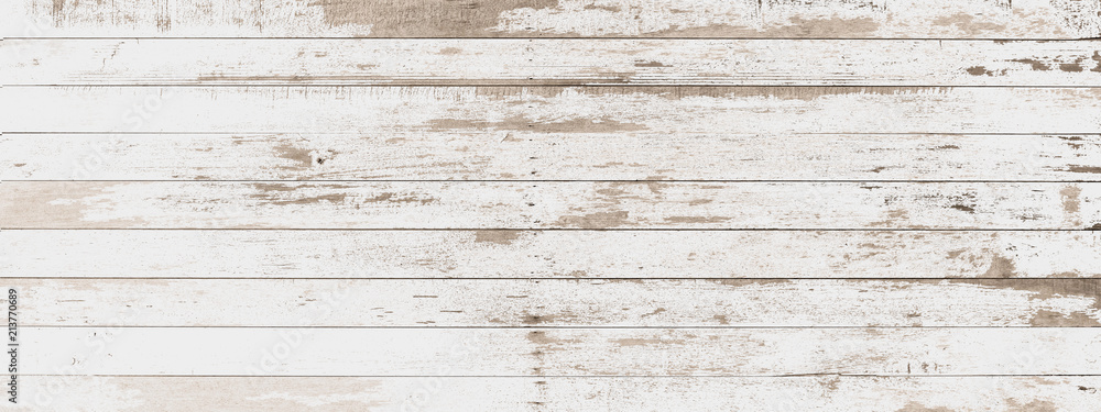 Fototapety, obrazy: wood board white old style abstract background objects for furniture.wooden panels is then used.horizontal